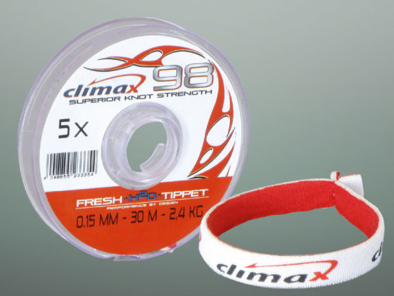 Climax Flyfishing Climax98 Tippet, Verpackung und Tippet