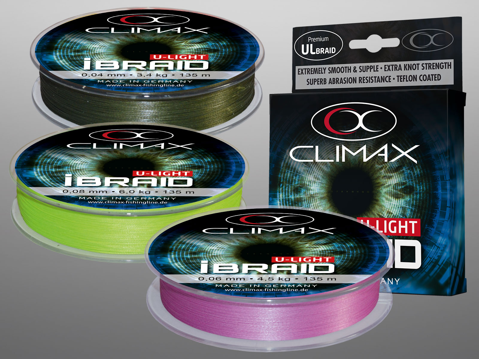 Climax IBraid Chartreuse 135 M; 0,10 Mm
